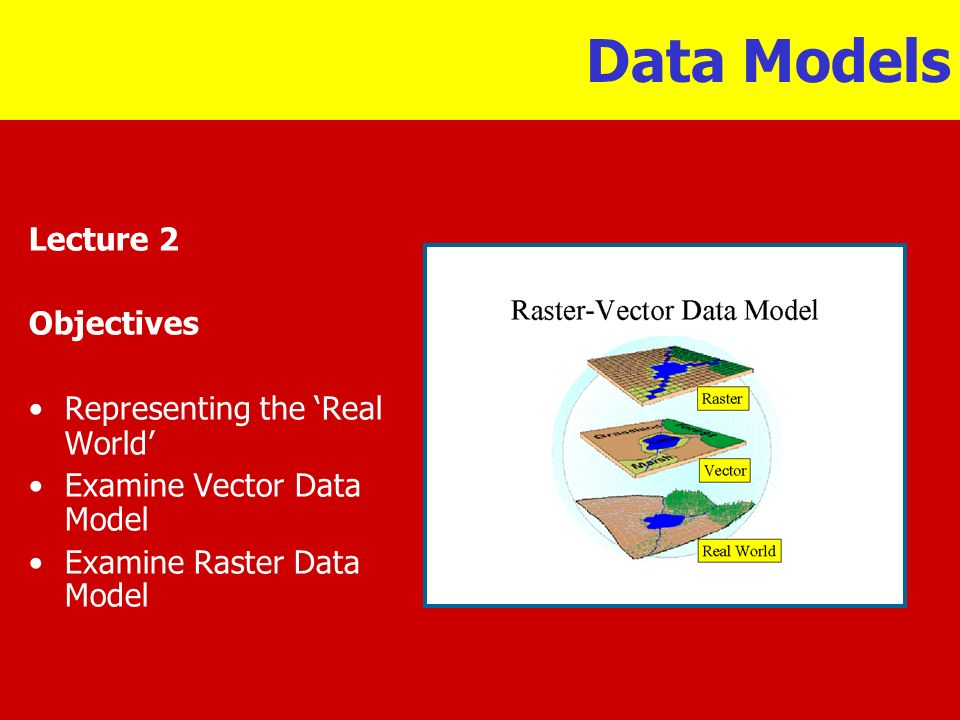 Data Models Lecture 2 Objectives Representing the 'Real World'