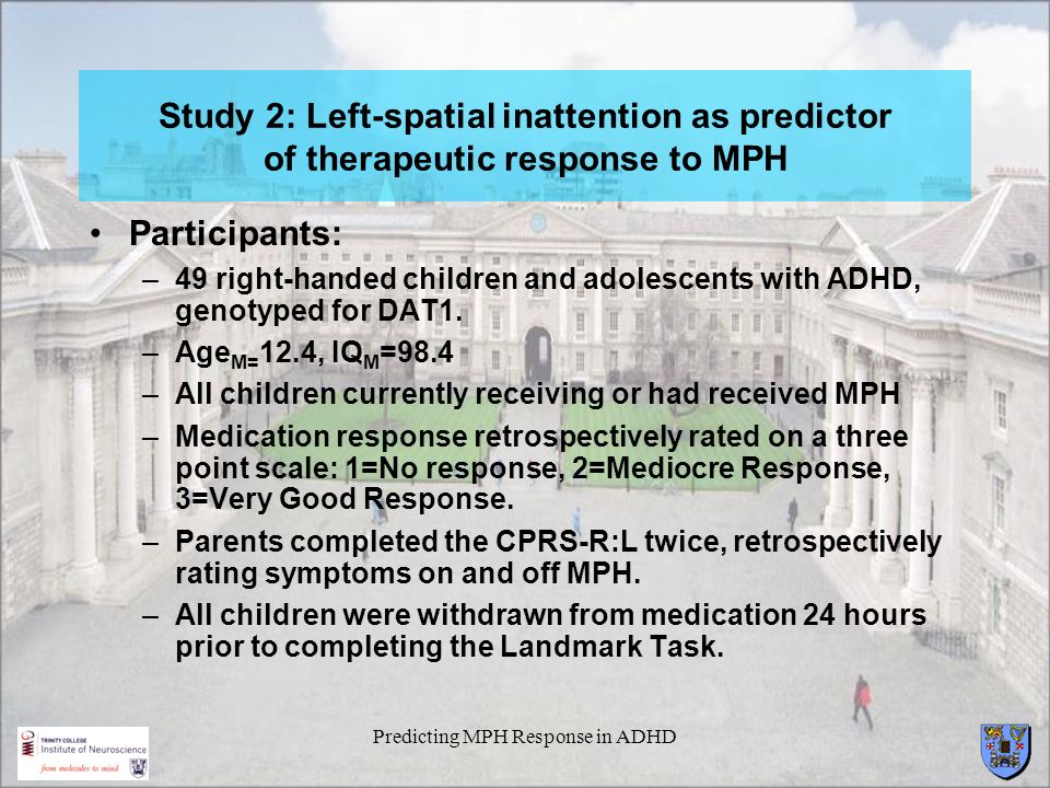 Predicting MPH Response in ADHD