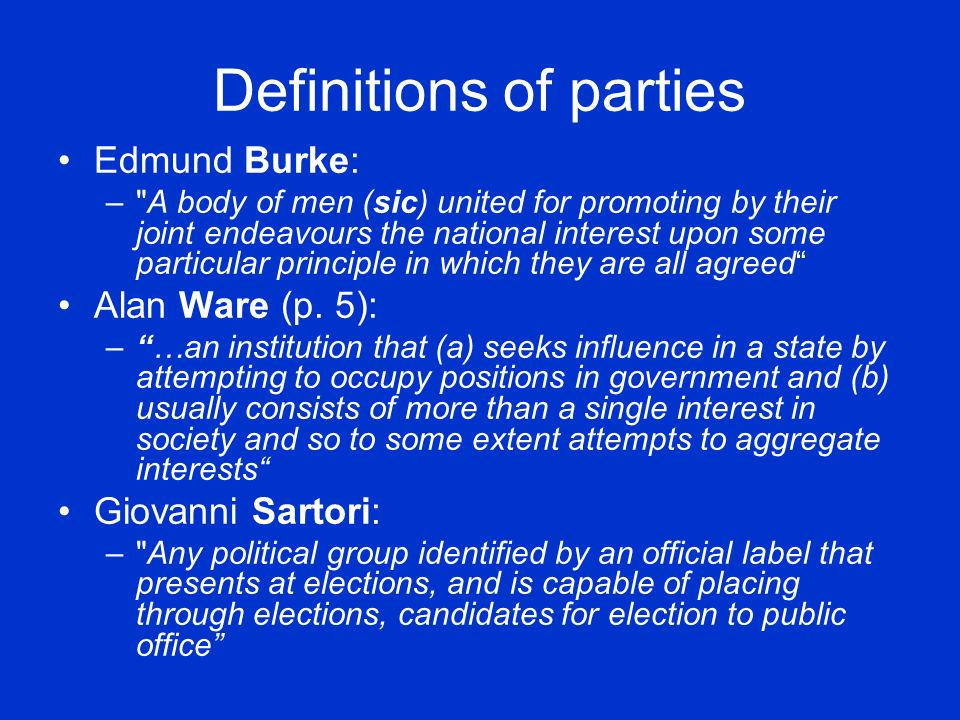 Definitions of parties