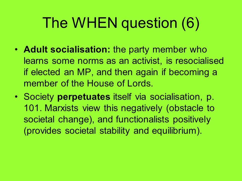 adult socialisation