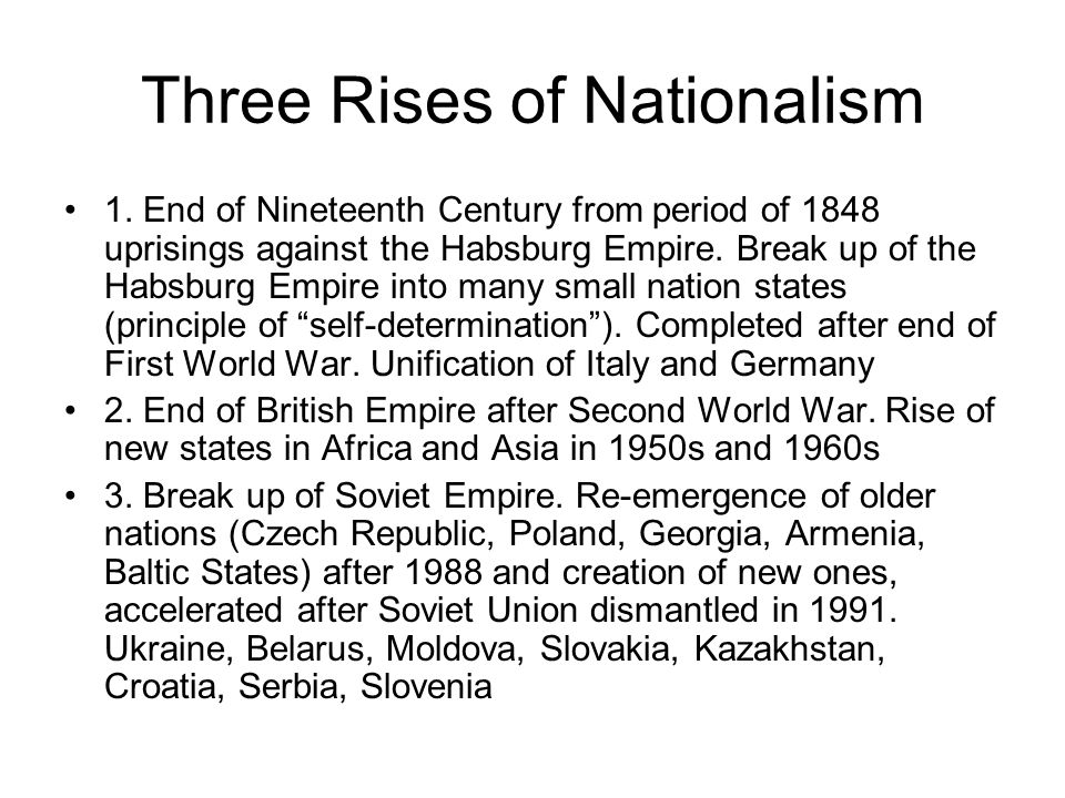 Three Rises of Nationalism