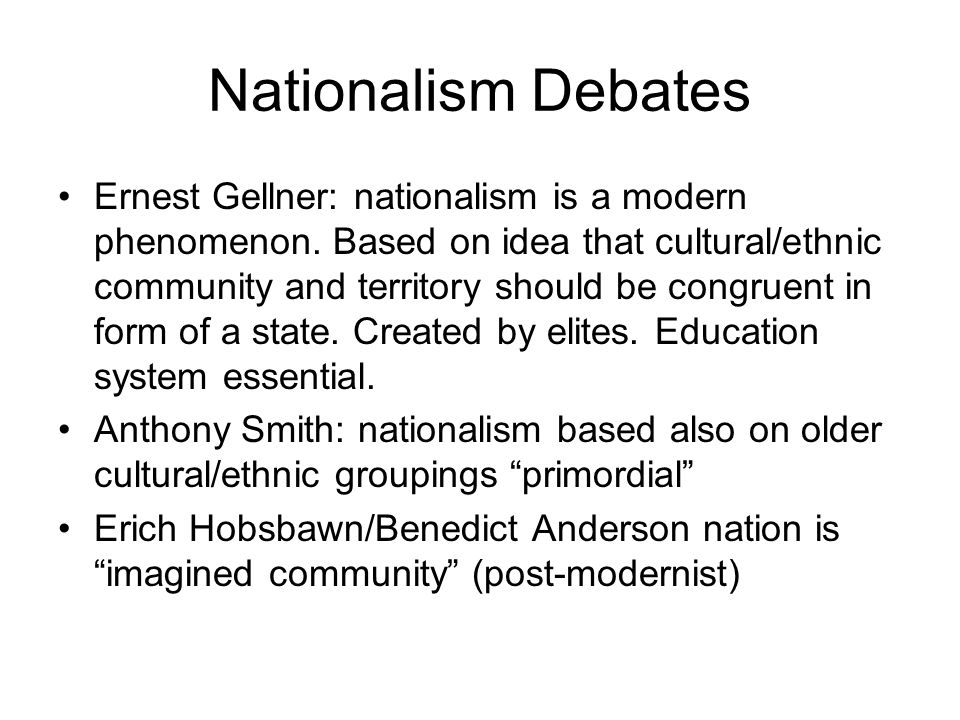 Nationalism Debates