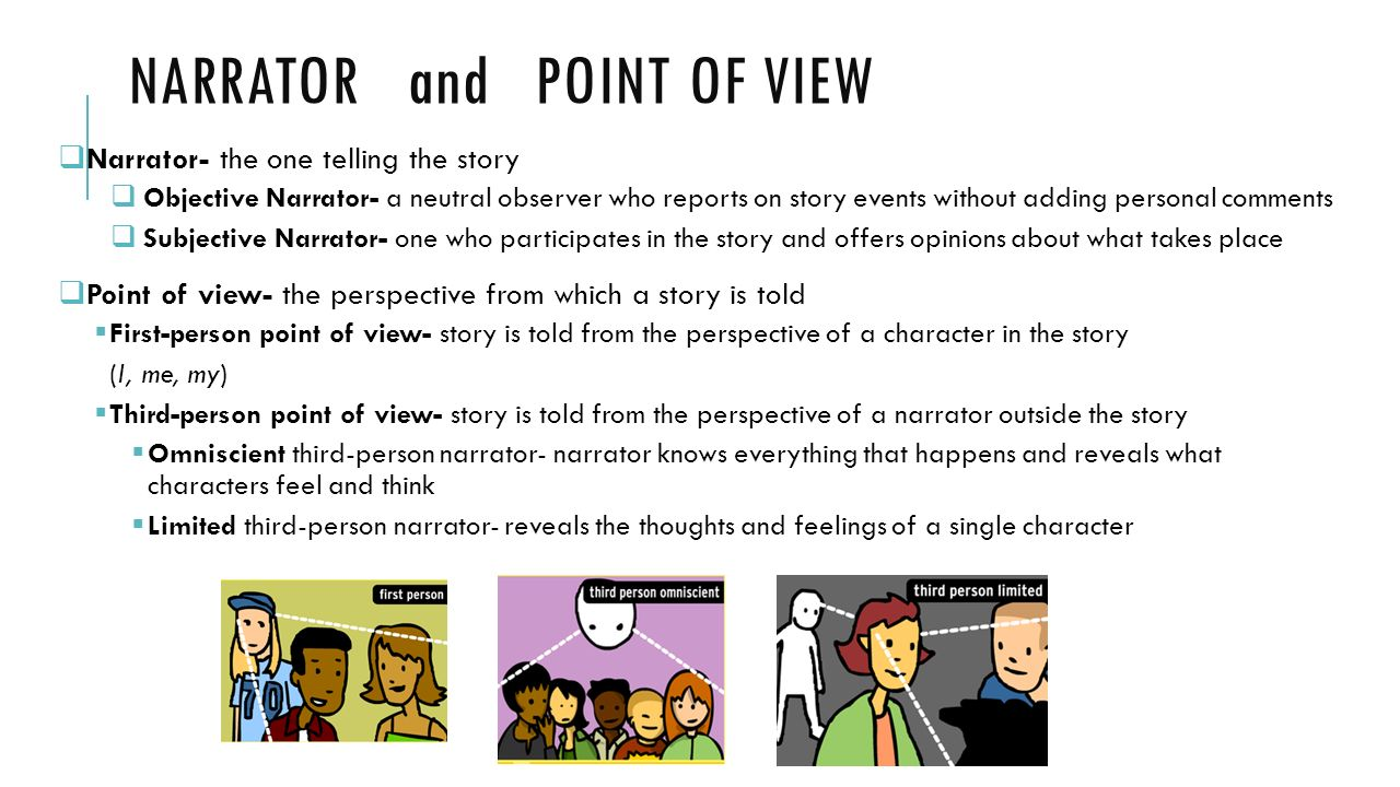 NARRATOR and POINT OF VIEW