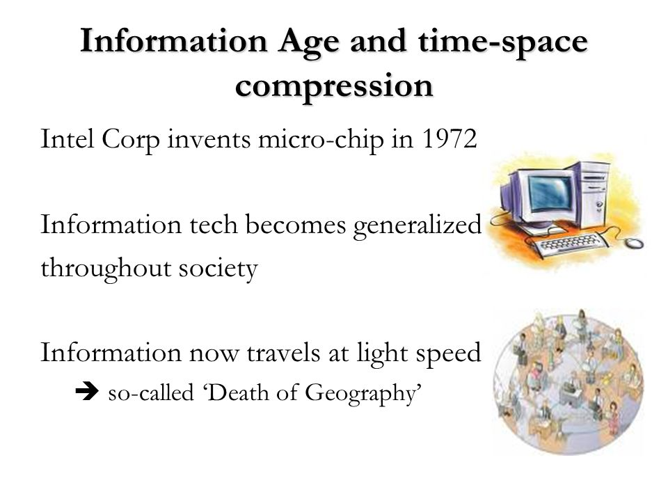 Information Age and time-space compression
