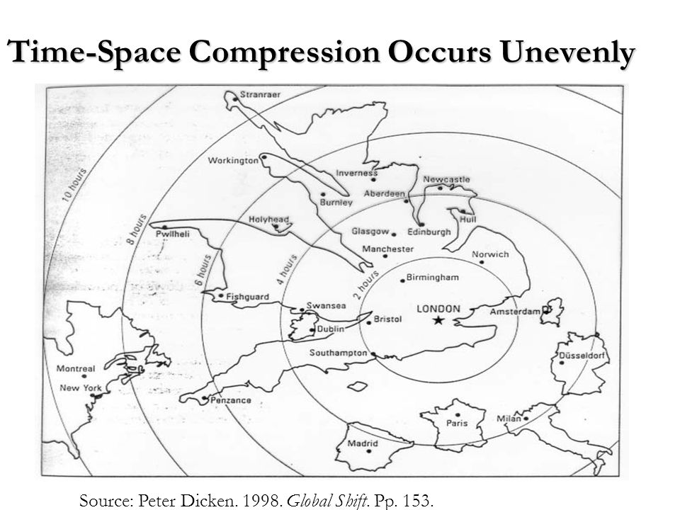 Time-Space Compression Occurs Unevenly