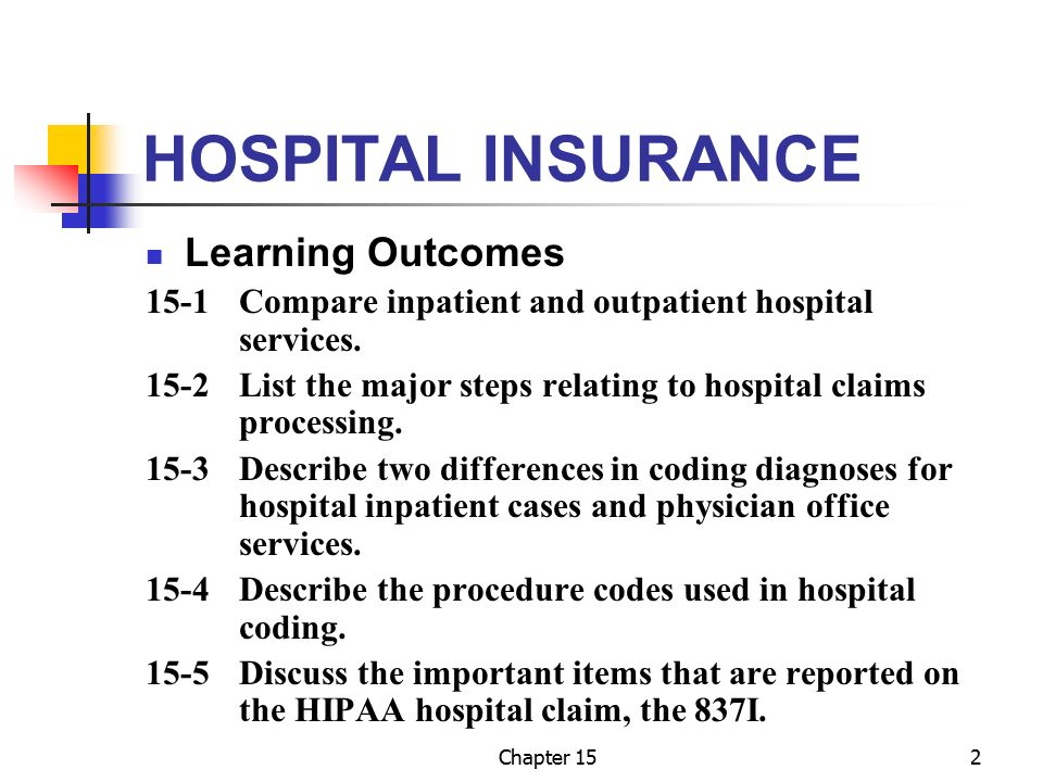 Chapter 15 Hospital Insurance Ppt Download