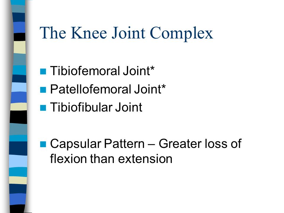 The Knee Anatomy Mazyad Alotaibi Ppt Video Online Download Unique Capsular Pattern