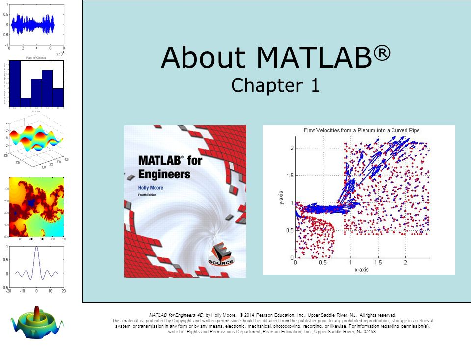 About MATLAB® Chapter 1 Welcome to Chapter 1 of MATLAB for Engineers