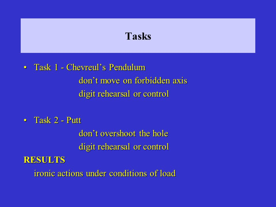 Tasks Task 1 - Chevreul's Pendulum don't move on forbidden axis