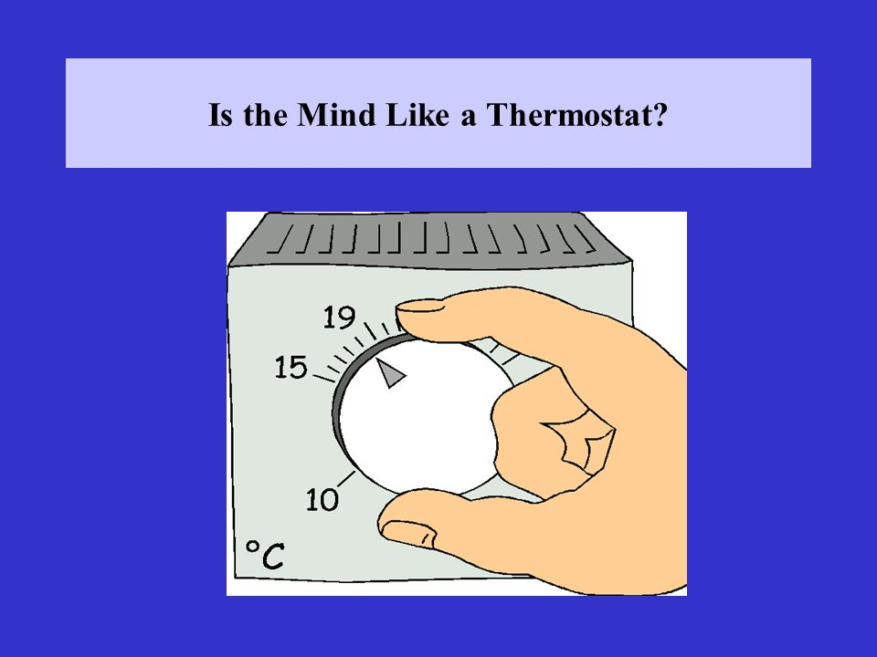Is the Mind Like a Thermostat