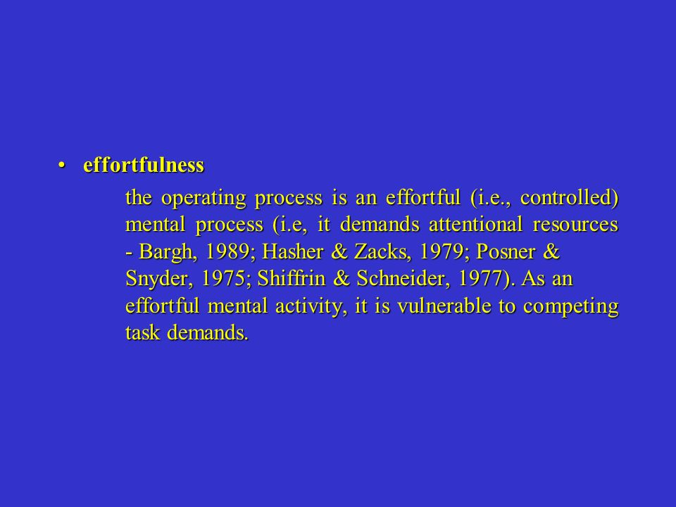 effortfulness
