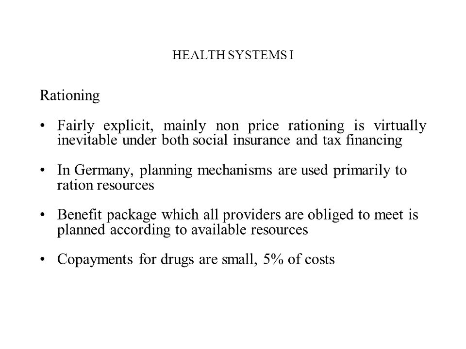 In Germany, planning mechanisms are used primarily to ration resources