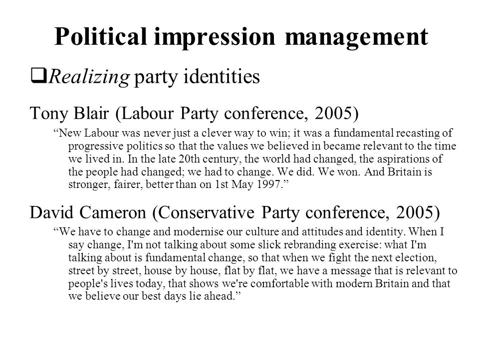 Political impression management