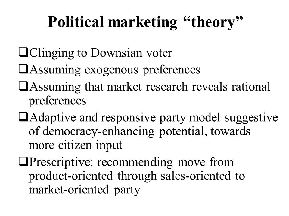 Political marketing theory