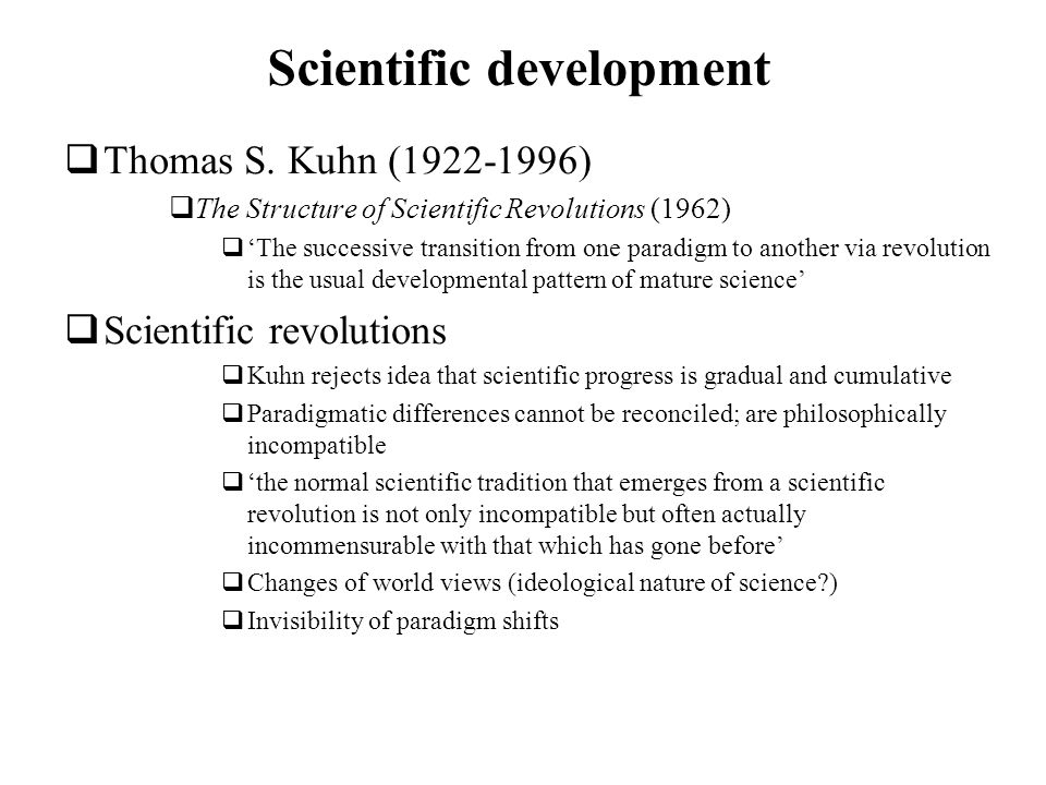 Scientific development