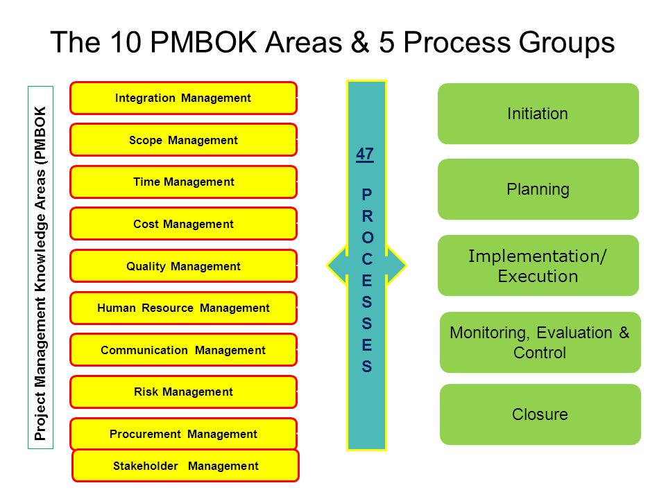 Mgt 461 Project Management Institute Knowledge Areas Ppt