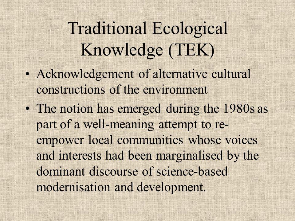 Traditional Ecological Knowledge Tek Ppt Download