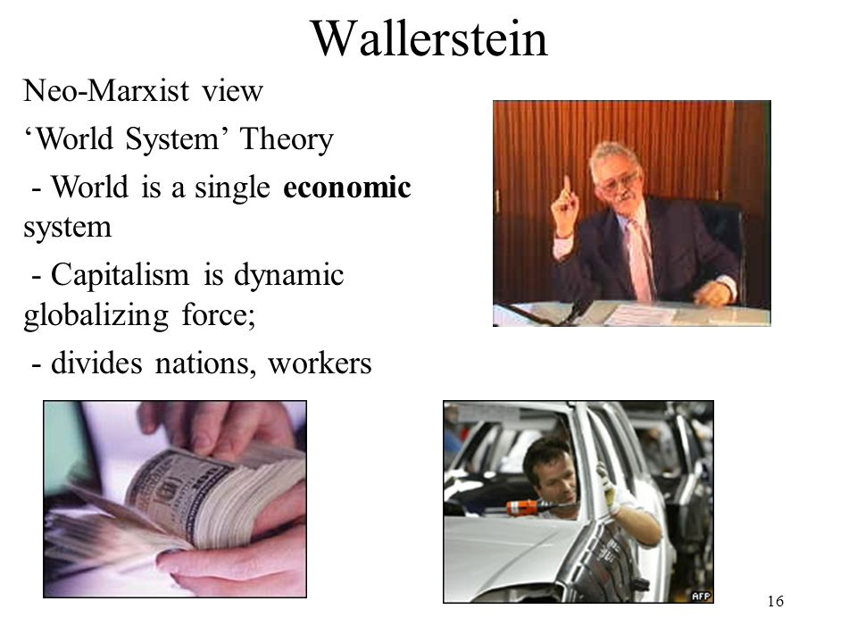 Wallerstein Neo-Marxist view 'World System' Theory