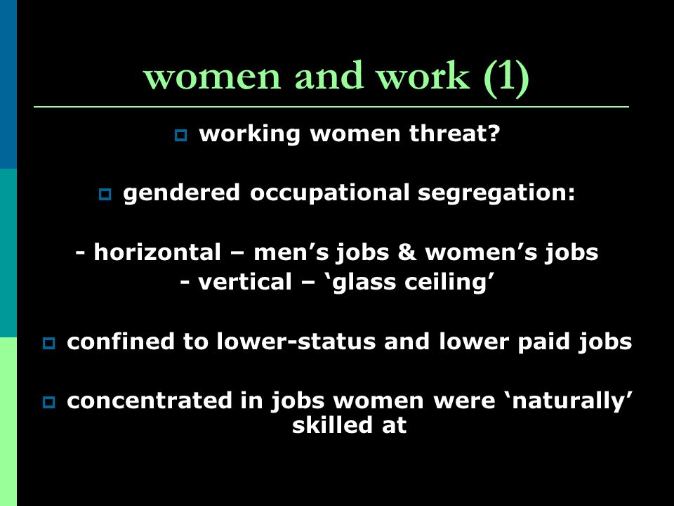 women and work (1) working women threat