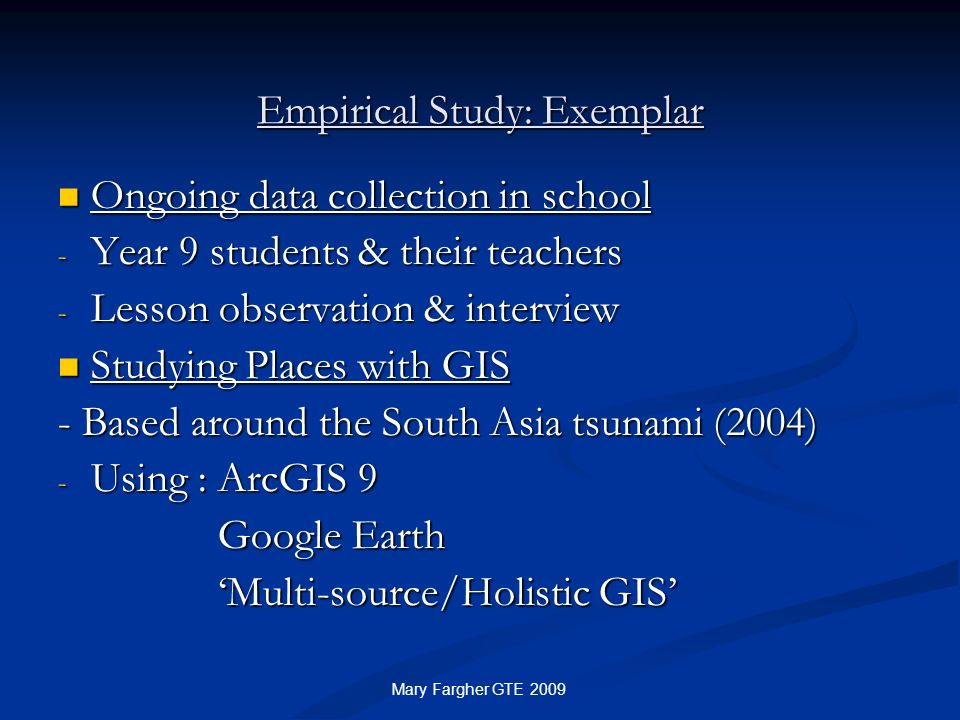 Empirical Study: Exemplar