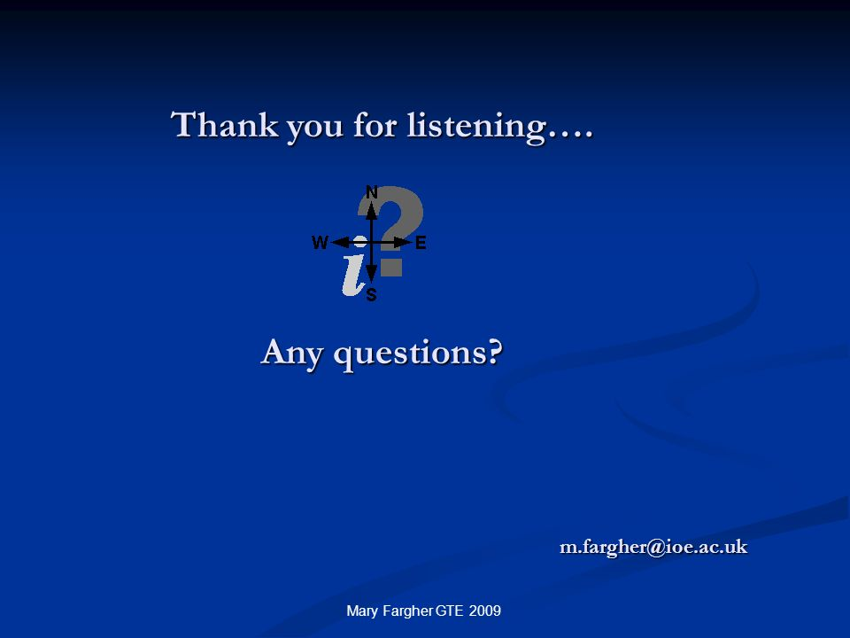 Thank you for listening…. Any questions