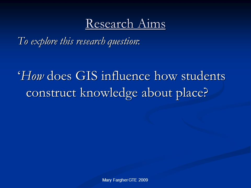 'How does GIS influence how students construct knowledge about place