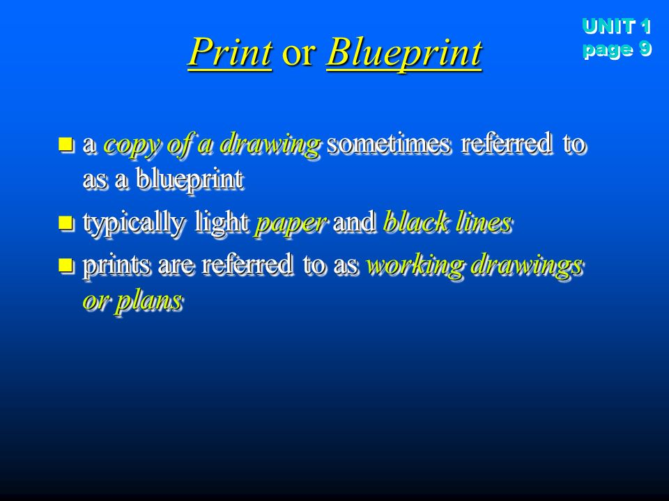 Construction drawings ppt video online download print or blueprint a copy of a drawing sometimes referred malvernweather Image collections
