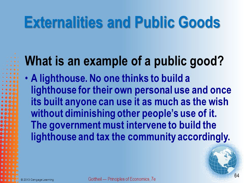 economic commentary public good market failure There is an important conceptual difference between the sense of a public good, or public goods in economics, and the more generalized idea of the public good (or common good,  public goods provide a very important example of market failure,  the efficient level of such provision is still being subjected to economic analysis.