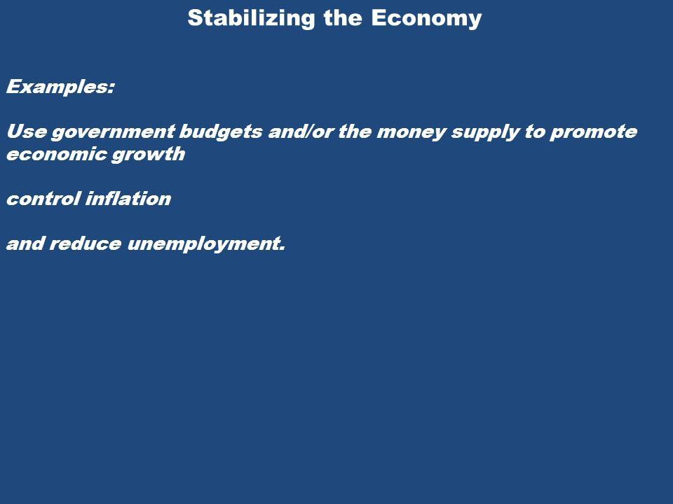 17 stabilizing the economy.