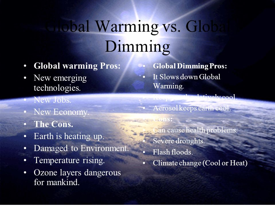 cons of global warming