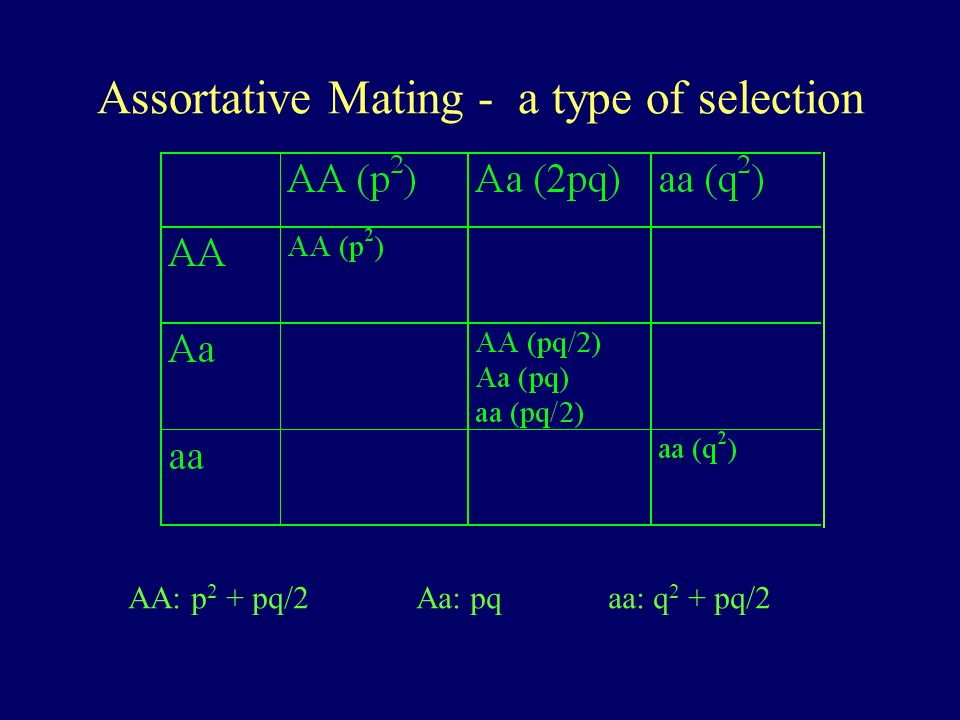 Assortative Mating - a type of selection