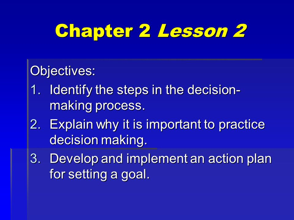 making decisions and setting goals ppt download