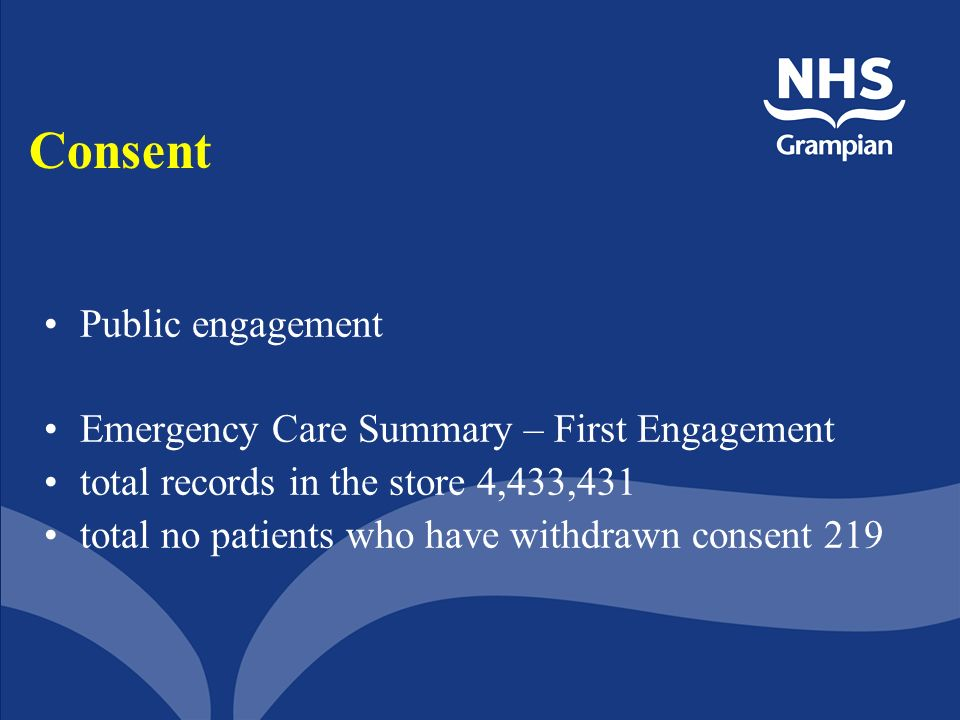 Consent Public engagement Emergency Care Summary – First Engagement