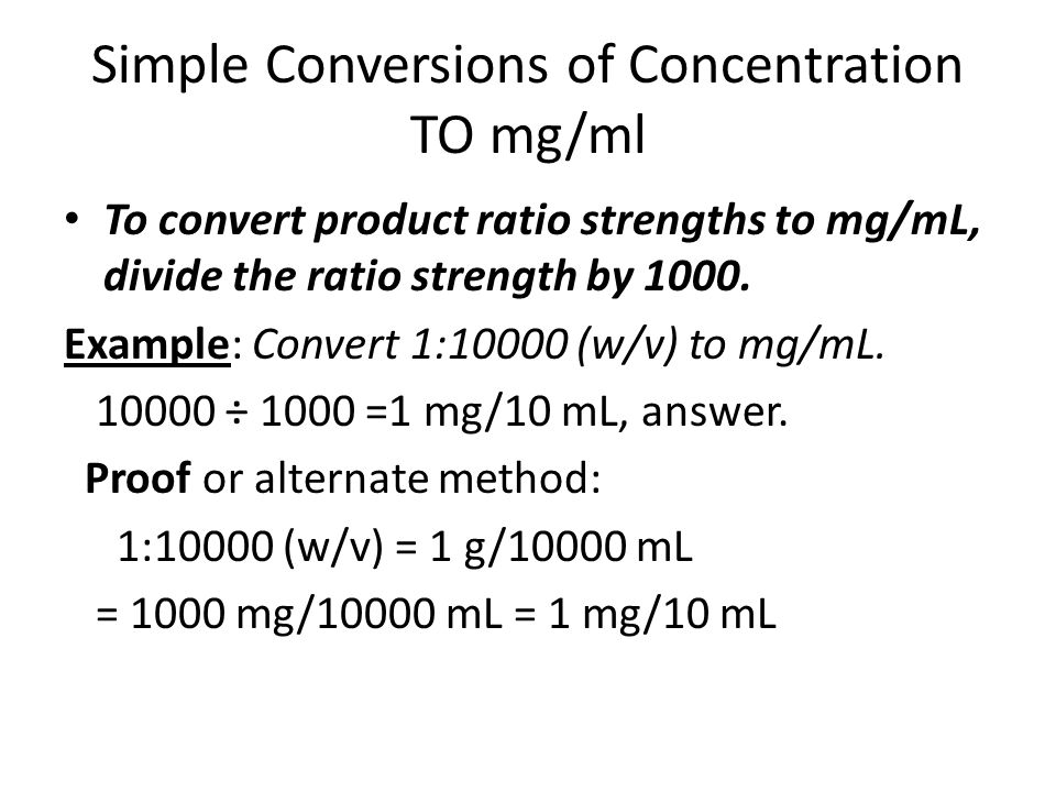 Ratio Strength & Other Expressions of Concentration - ppt