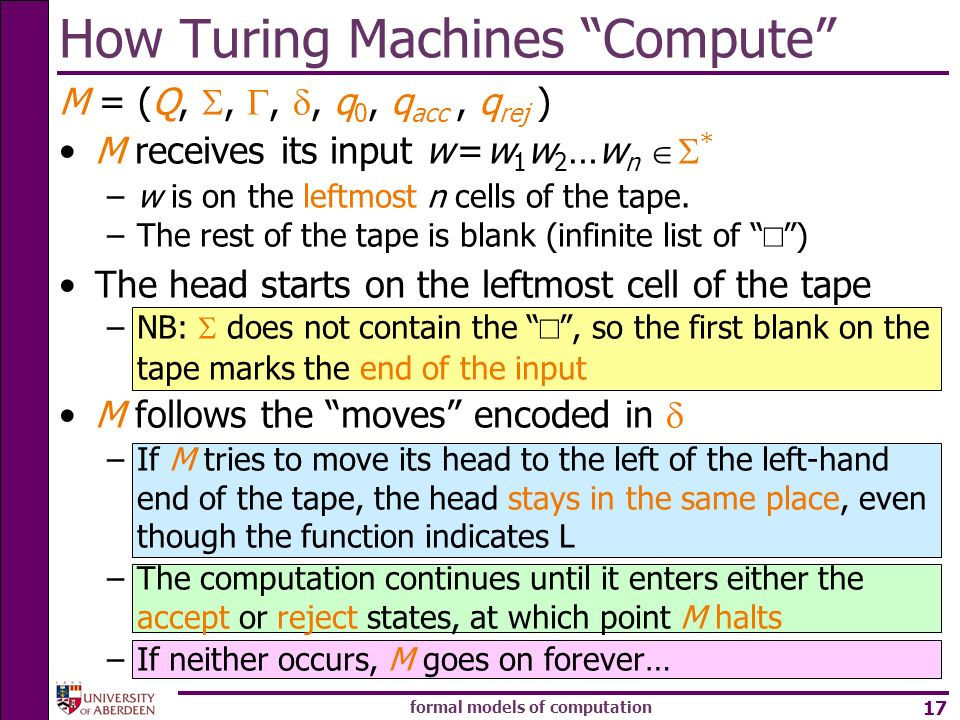 How Turing Machines Compute