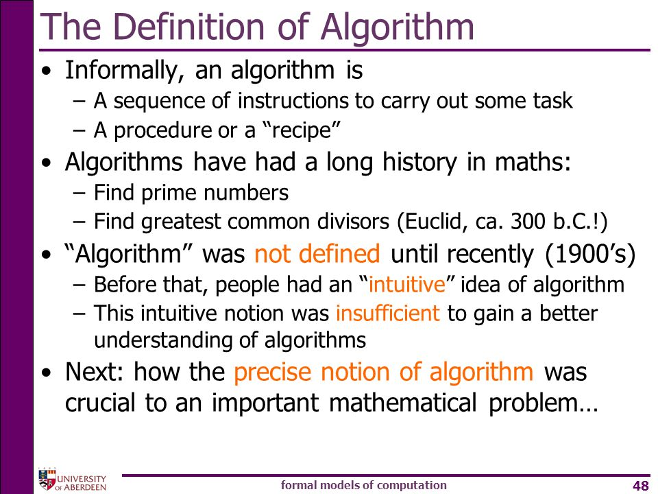 The Definition of Algorithm