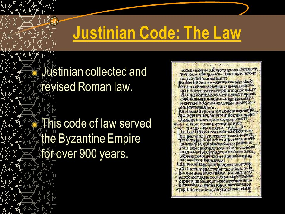 Justinian Code: The Law