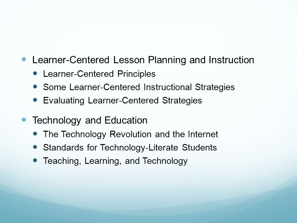 Learner Centered Lesson Planning And Instruction Ppt Video Online