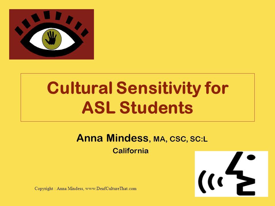 cultural sensitivity for asl students