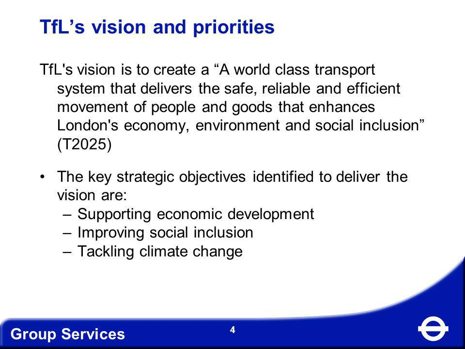 TfL's vision and priorities