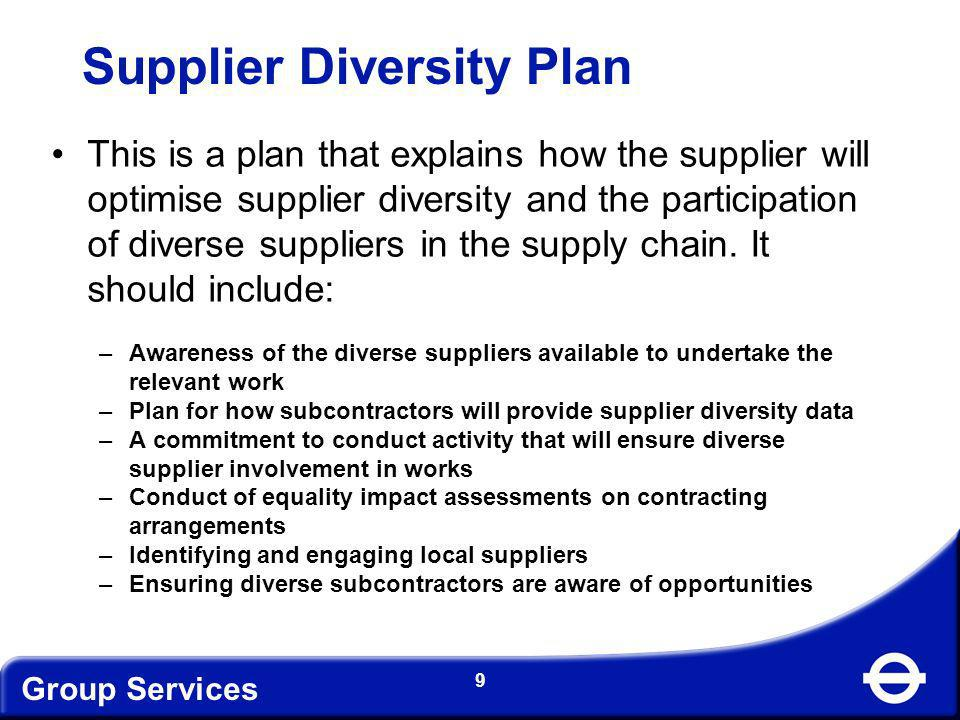 Supplier Diversity Plan