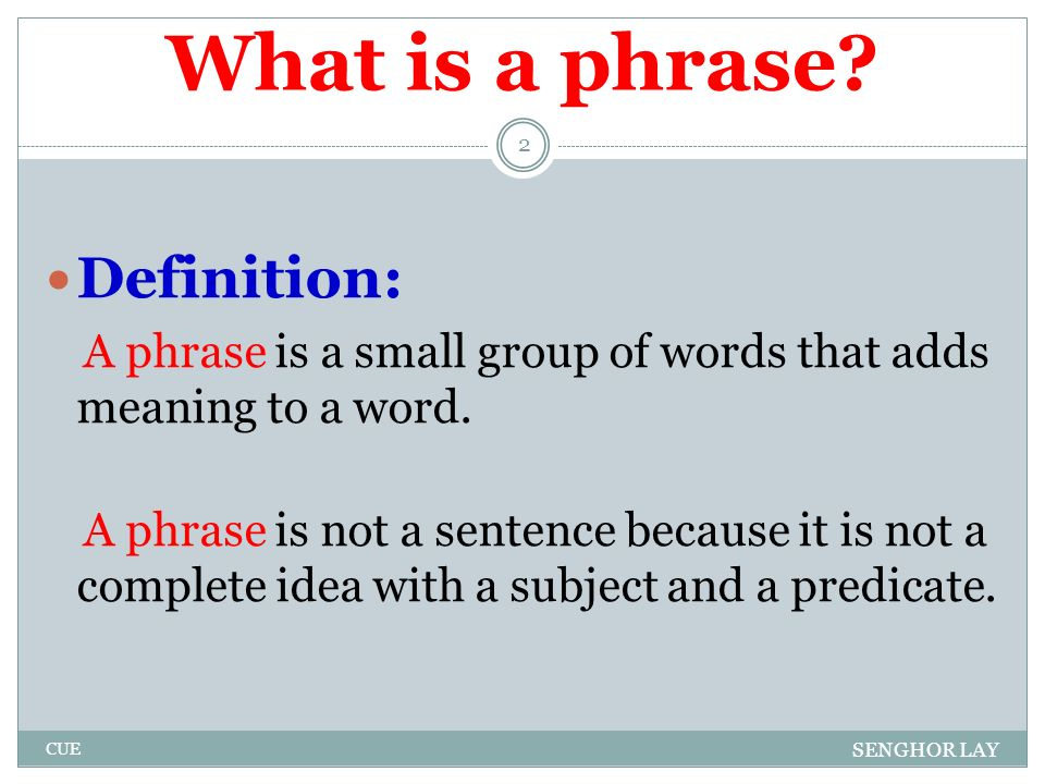 phrases clauses and sentences ppt download
