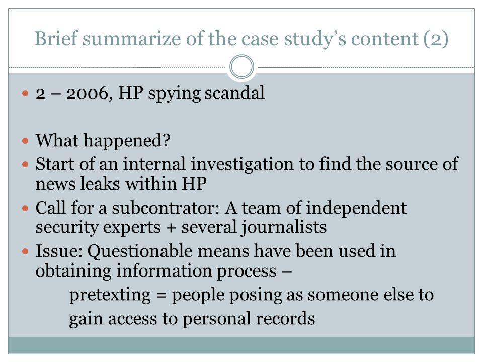 hp case study