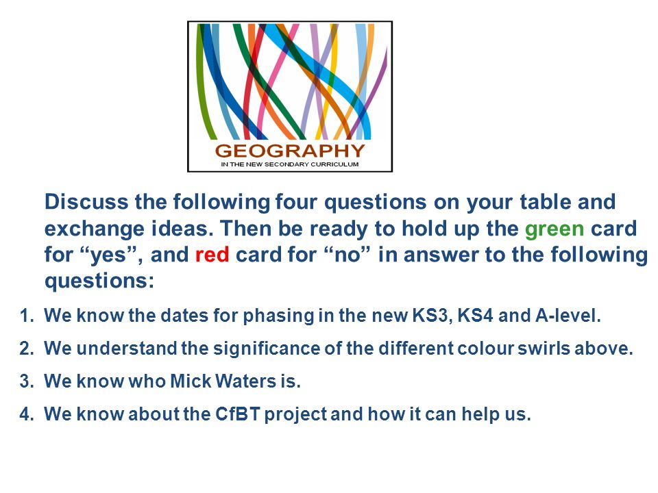 We know the dates for phasing in the new KS3, KS4 and A-level.