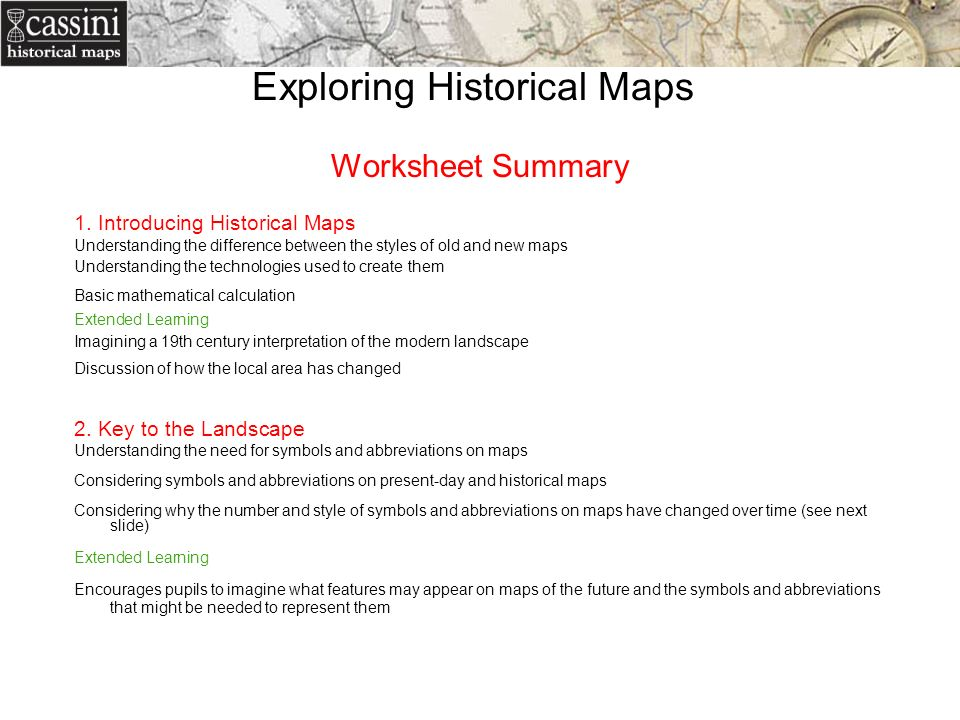 Linking Geography History In The Classroom Penny Locke Cassini