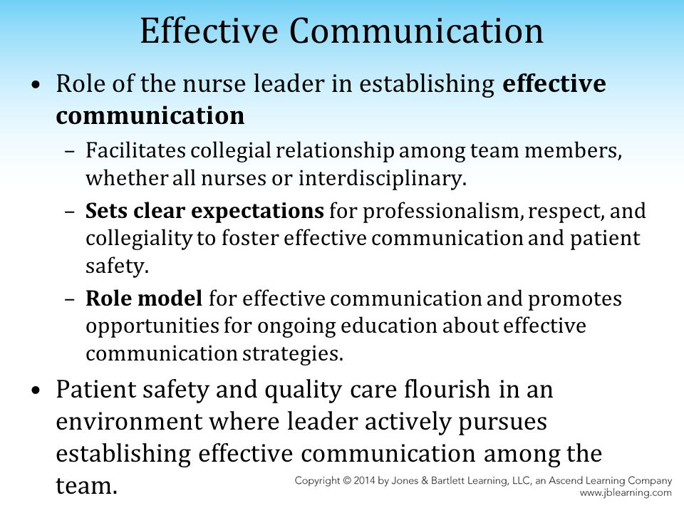 the role of effective communication