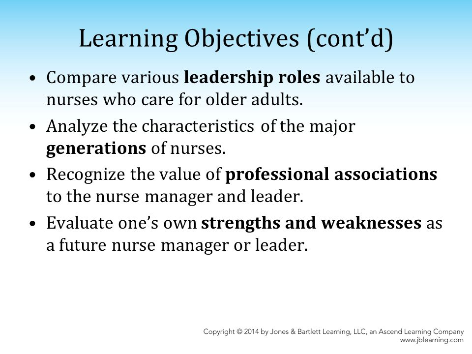 3 learning objectives