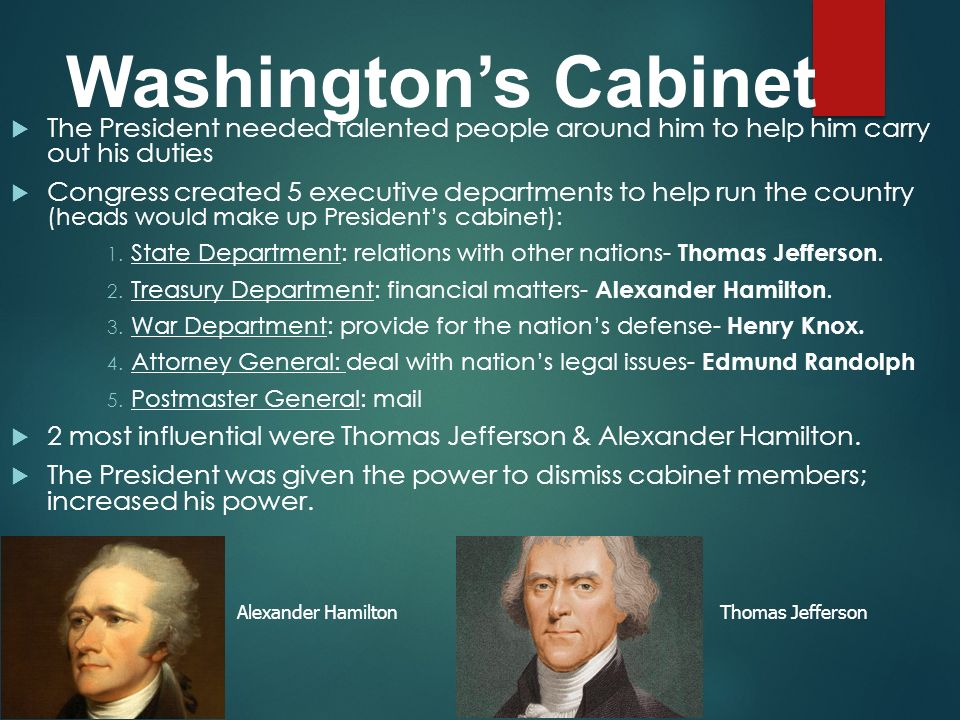 george washington cabinet who makes up the presidents cabinet information 15792