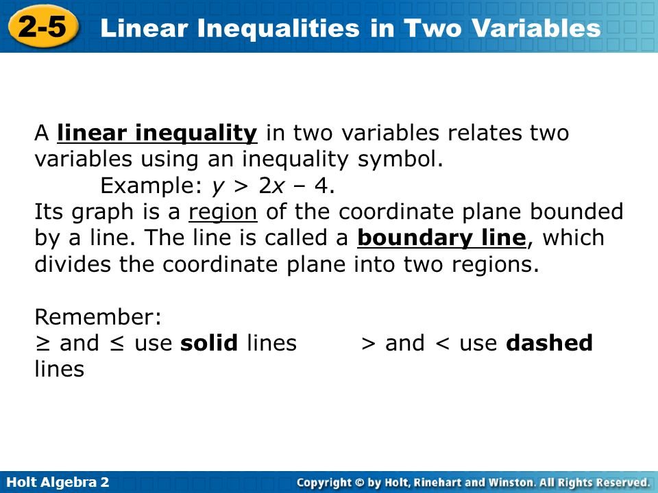 two variable inequality essay In the body of your essay, do the following: demonstrate your solution to all three portions of the above problem, making sure to include all mathematical work, and an explanation for each step use the inequality you create from part (a) of problem 68 to evaluate the following two scenarios.