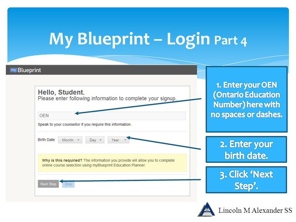 Lincoln m alexander secondary school ppt download my blueprint login part 4 malvernweather Images
